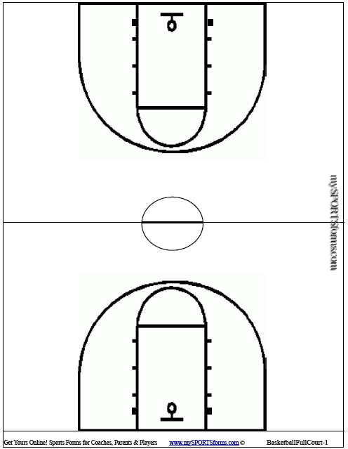 youth basketball coaching   mysportsforms combasketball full court diagram   pdf
